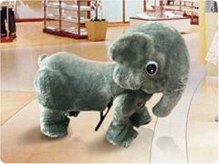 毛绒电动玩具车