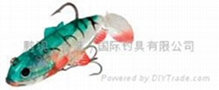soft lure, lead fish, sinker, spoon and spinner