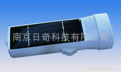 塑料太陽能手電筒 1