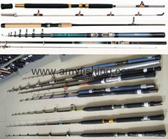 fishing rods, spinning rods, trolling rods, boat rods, carp rods