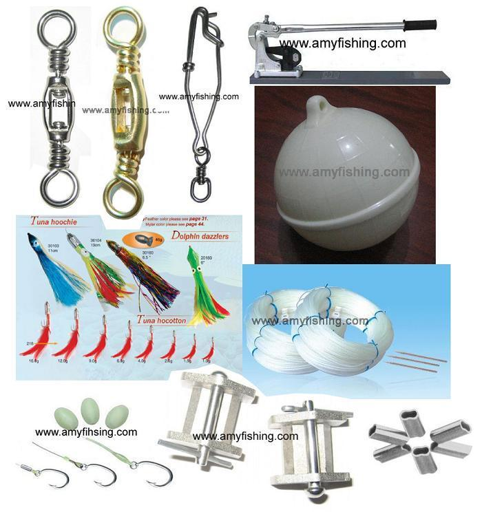 tuna fishing tackle, stainless steel hook, box swivel, sbl snap, long line hook 1