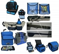 fishing bags, rods bags, storage bags.