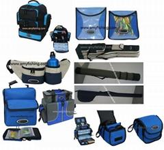 fishing bags, rods bags, storage bags. lure bags, reel bags