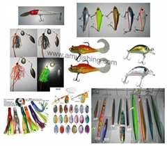 fishing lures, fishing baits, spinner bait, fishing tackles, hard lure,soft lure