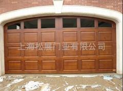 Provide Remote Control Wooden Garage Door