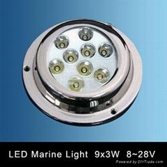 LED Underwater Boat Light 9X3W