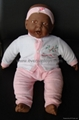 vinyl doll with laughing music