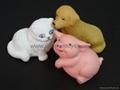 搪胶动物玩具洗澡玩具
