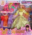 bendable doll with many dress