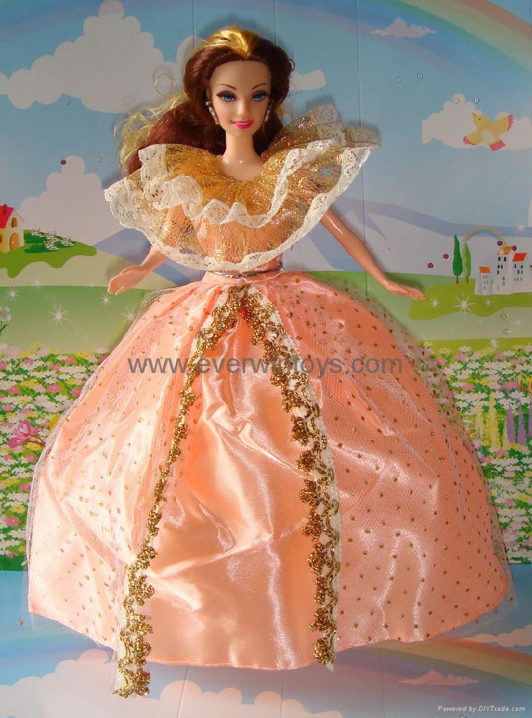 芭比娃娃婚紗裙 1
