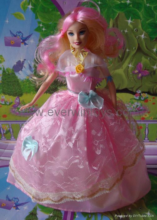 芭比娃娃婚紗裙 5