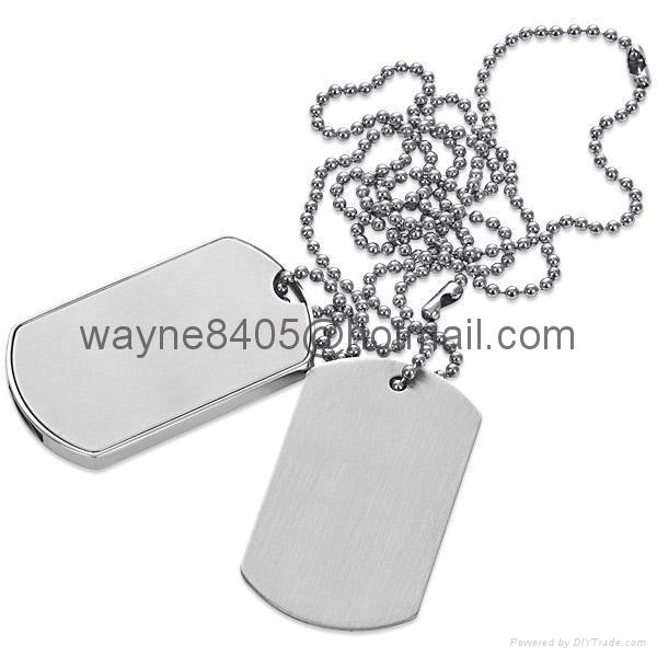 Metal dog tag USB stick 1
