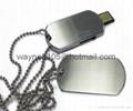 Metal dog tag USB stick 2