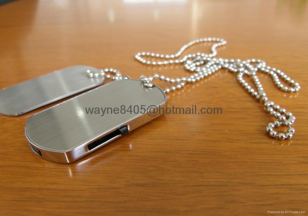Metal dog tag USB stick 3
