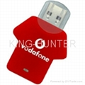T-shirt usb flash driver usb flash disk usb flash storage