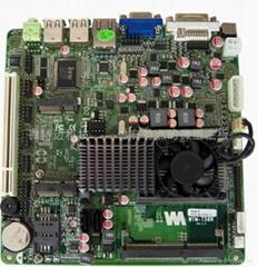 AMD E450異步雙顯示內建高性能顯卡支持12V供電超薄遊戲機主板
