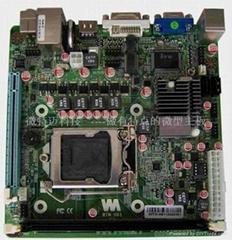 Mini-itx H61雙屏顯示支持WIFI/Mini-SATA固態硬盤工控主板