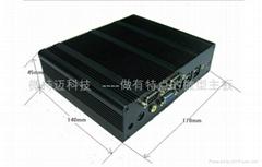 ATOM N270无风扇工控机迷你电脑支持WIFI多串口