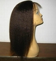 Human hair Full lace wig 3