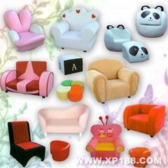 儿童沙发/小沙发/沙发椅/沙发凳/PU皮革海绵沙发