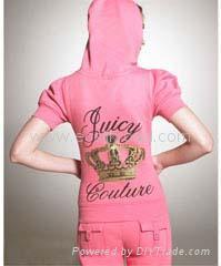 Juicy Crown Short-Sleeved Hoodie Track Suit