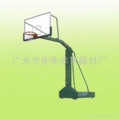 三輪移動透明籃球架
