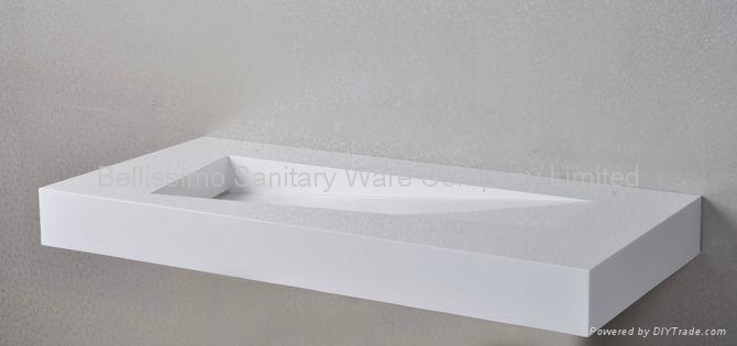New design stone basin BS-8402 5
