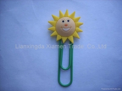 PVC bookmarks & PVC paper clip & stationery