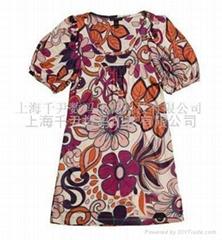Chiffon fabric transfer printing