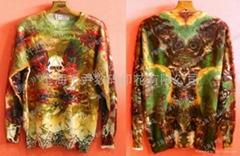 Cashmere sweater digital printing