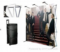 Fast pop up banner stand