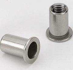 供应平头圆柱不锈钢铆螺母