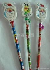 christmas pencil top erasers