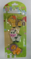 blister card erasers