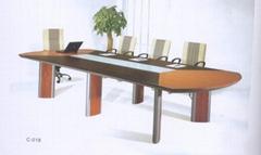 office wooden meeting desk