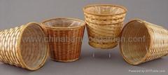 plait bamboo flower basket,flower pot cover