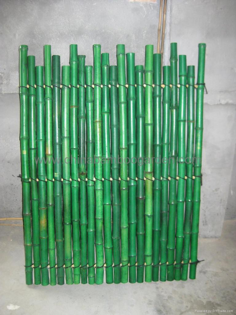 Bamboo Rolled Fence Split Slats Fencing Uneven Interweave