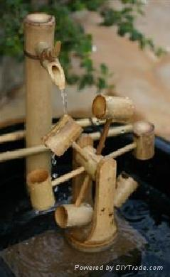 Bambooo Fountain Water Spout Deer Chaser 1