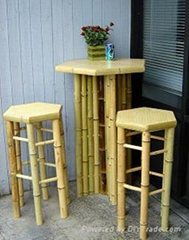 bamboo table and chair sets