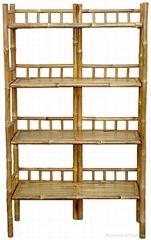 bamboo rack shelf ,display stand