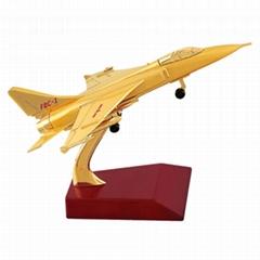 金屬飛豹飛機模型