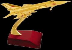 金屬殲八飛機模型