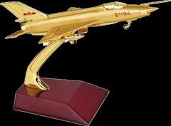 金屬殲7飛機模型
