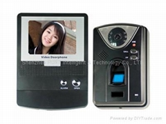 Fingerprint video door phone