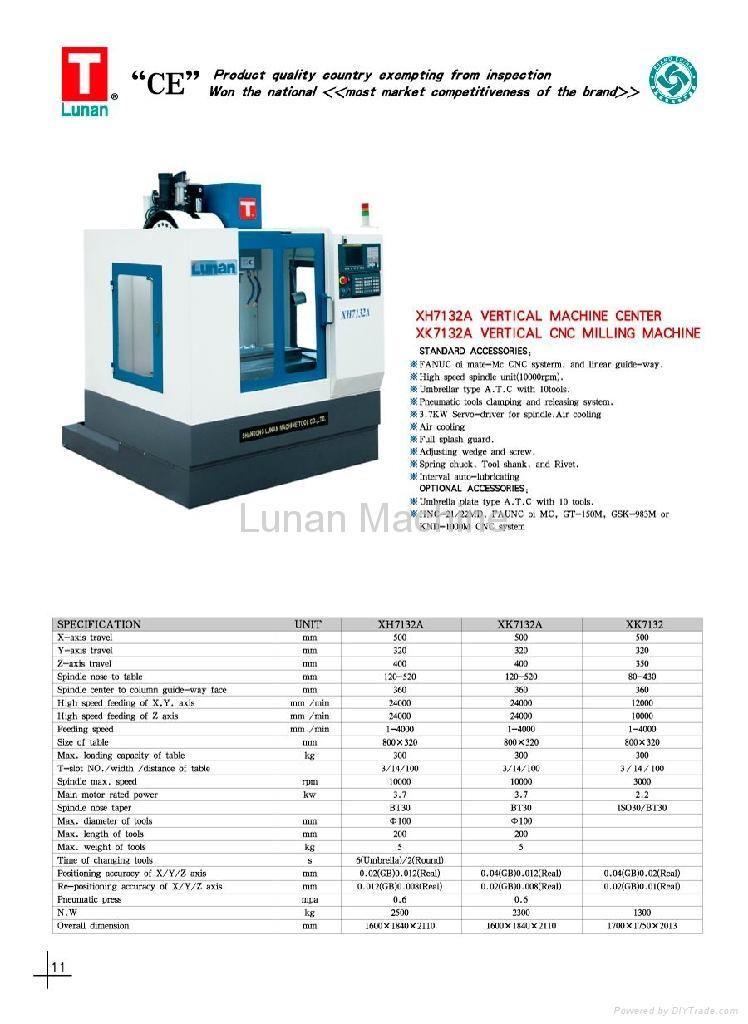 CNC vertical milling machine 3