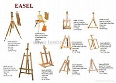 Wooden easel,Artist easel,sketch easel,box easel