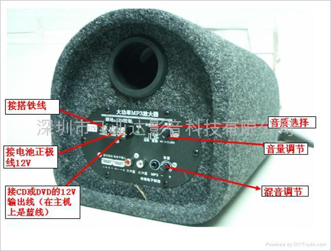汽车低音炮的接线方法高清图片