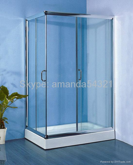 shower encloure steam room tempered glass 1
