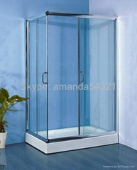 shower encloure steam room tempered glass