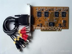 4 channel H.264 real-time PCI DVR card